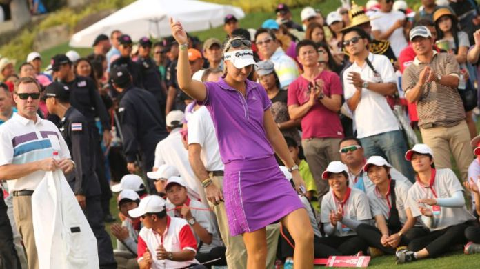 LPGA player, Anna Nordqvist and Mike Whan