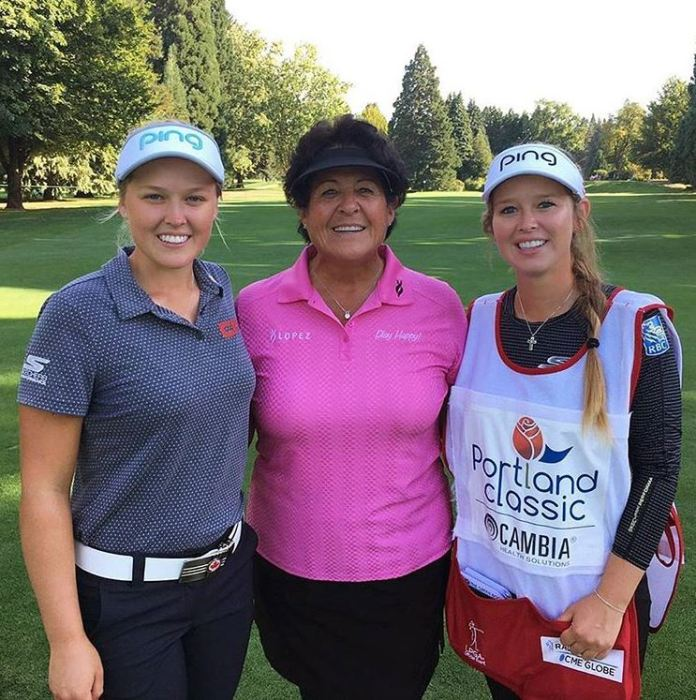 Brooke and Brittany Henderson with Nancy Lopez