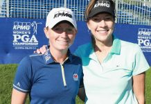 Stacy Lewis and Lynne Doughtie Chairman and CEO of KPMG