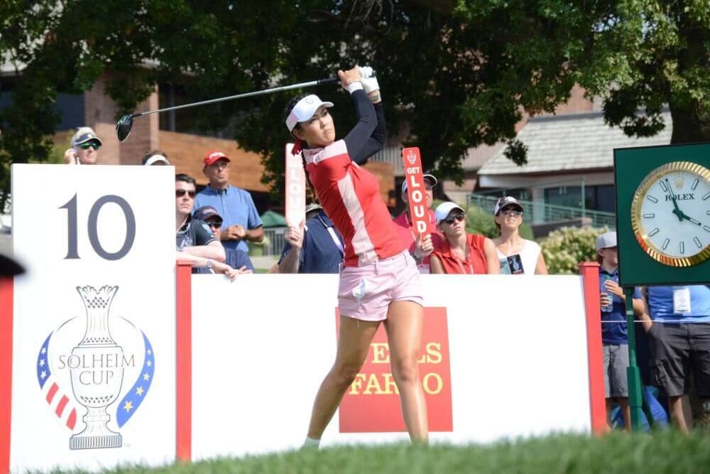 Michelle Wie 10th Tee on Friday