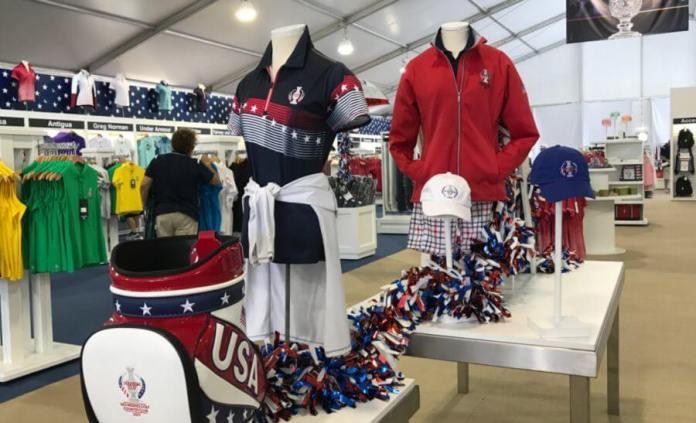 Solheim Cup Merchandise Tent Women's Golf LPGA