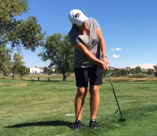 Elena King Using a Hybrid around the green Women's Golf