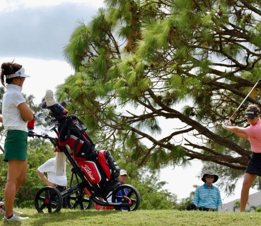 All eyes on Georgia Hall at Stage 2 of the 2017 LPGA Qualifying Tournament.