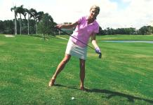 Kellie Stenzel How to Play from a Downhill Lie Womens Golf