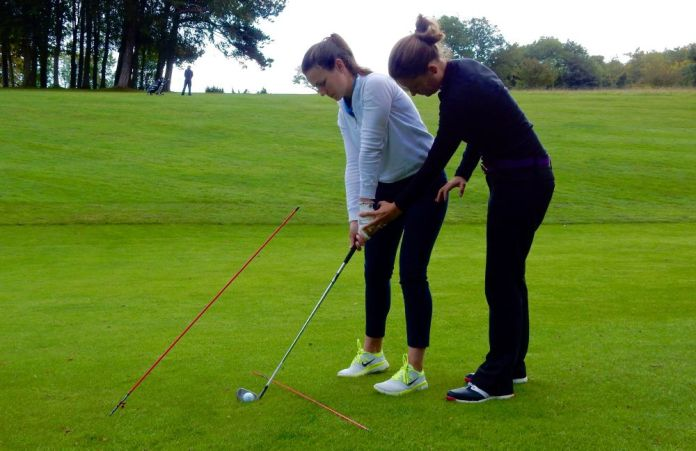 Lizzy Freemantle pre-shot routine womens golf lesson