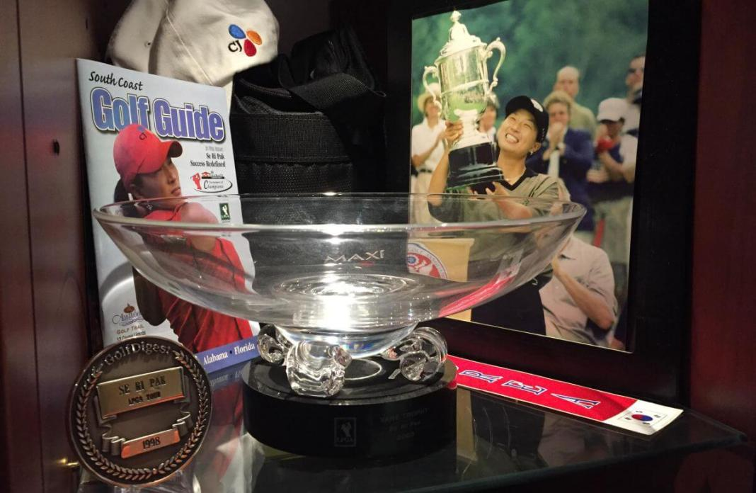 Se Ri Pak's World Golf Hall of Fame Museum display. WomensGolf.com
