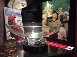 Se Ri Pak's World Golf Hall of Fame Museum display. WomensGolf.com