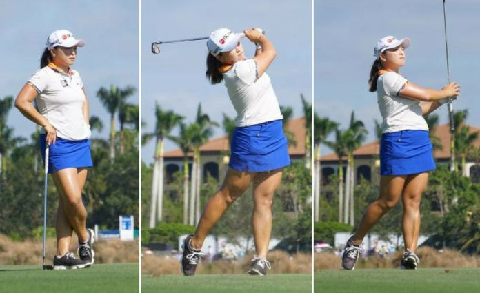 Hana Jang at the CME Group LPGA Tour Championship - Ben Harpring for womensgolf.com