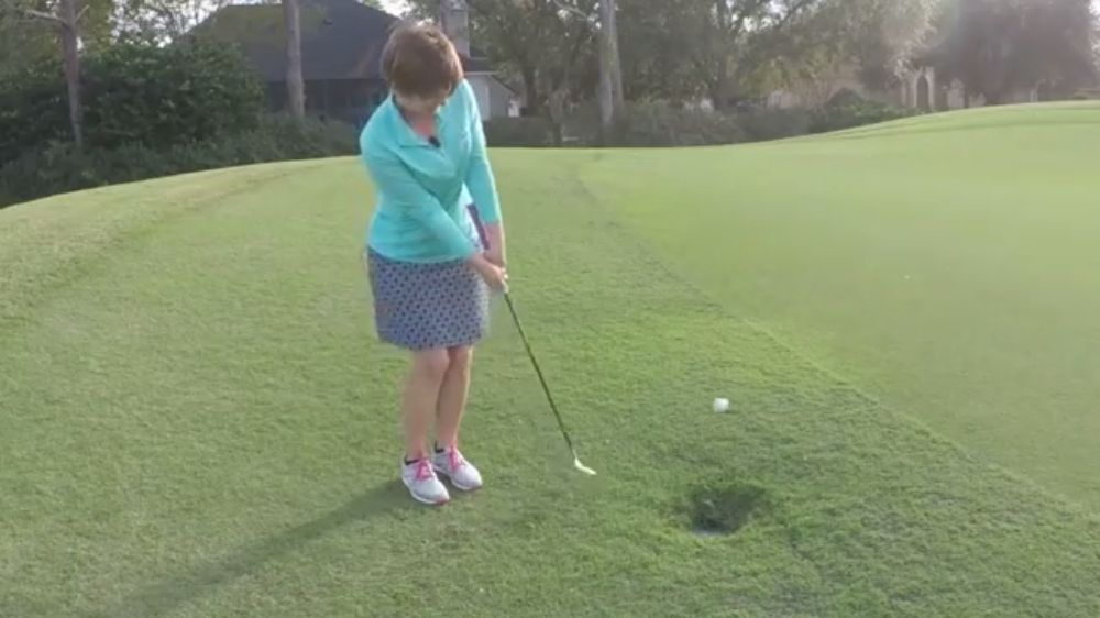 Kathy Nyman toe chip shot womens golf lesson