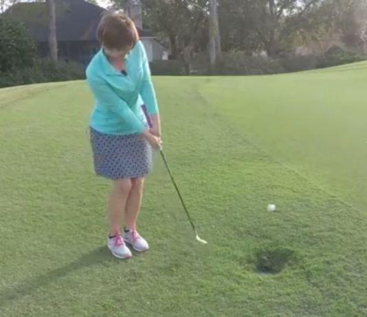 Kathy Nyman toe chip shot womens golf lesson