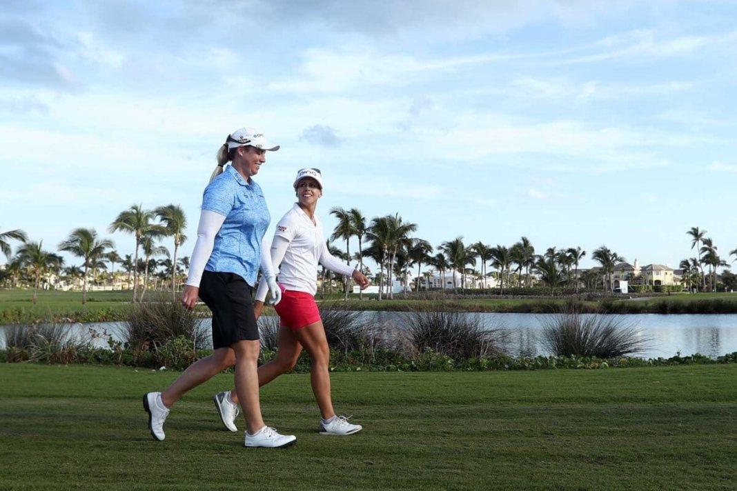 Brittany Lincicome and Pernilla Lindberg Bahamas LPGA   Photo: LPGA/Getty Images