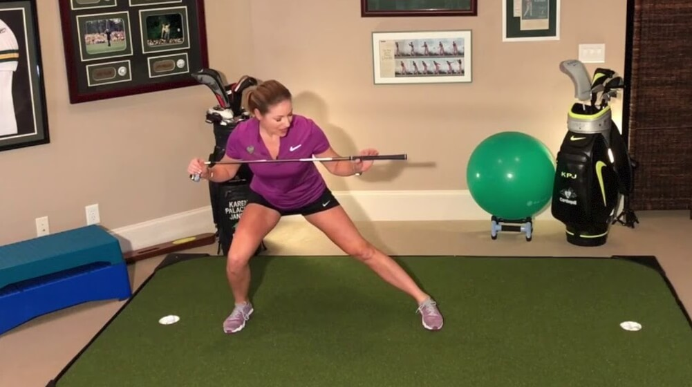 Weight Shift through side lunges warm-up with Karen Palacios Jansen