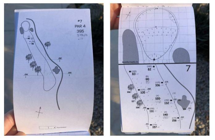 hole 7 yardage book womens golf