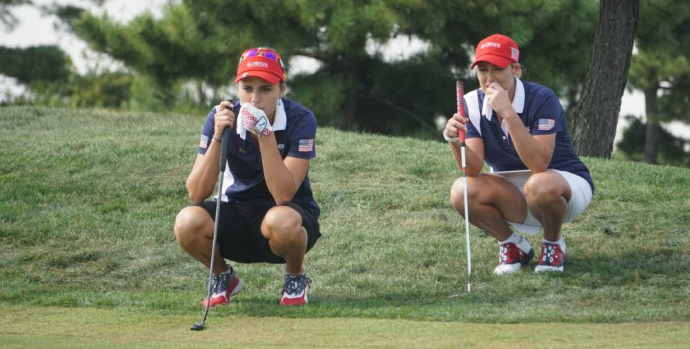 Lexi Thompson and Cristie Kerr - Team USA 2018 UL International Crown - Photographer Ben Harpring