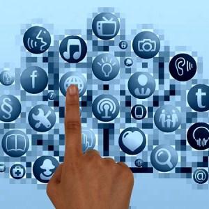 Finger pressing computer icon
