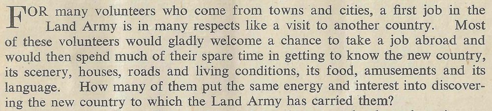 Excerpt from 'The Land Girl', October 1944