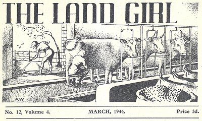 Land Girl magazine Heading March 1944
