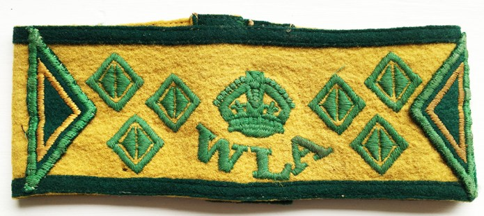 Women's Land Army 7 year armband. Source: Catherine Procter WLA Collection