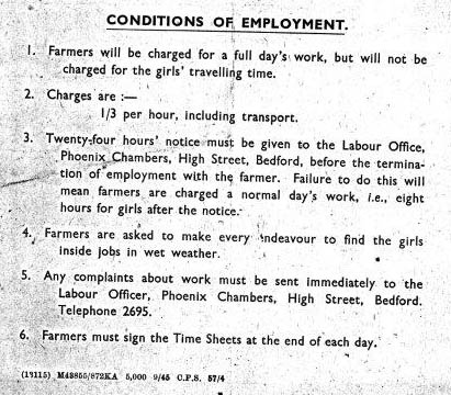 Conditions of employment for mobile gang girls