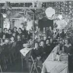 Xmas Party meal Leighton Buzzard WLA hostel Dec 1948