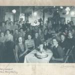 Xmas Party meal Leighton Buzzard WLA hostel Dec 1947