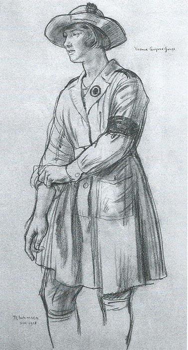 WLA WW1 Land girl in uniform 1918 R Schwabe