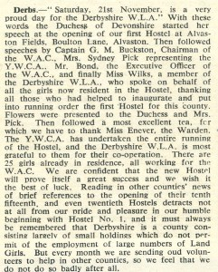 'At a party in Derbyshire; Text from 'The Land Girl', December 1942.