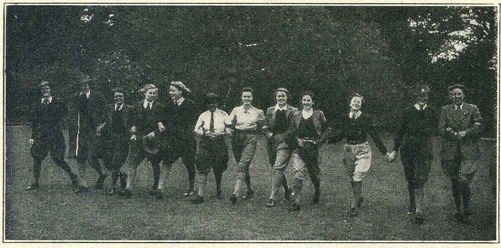 A Party In Derbyshire Photo from 'The Land Girl', December 1942.