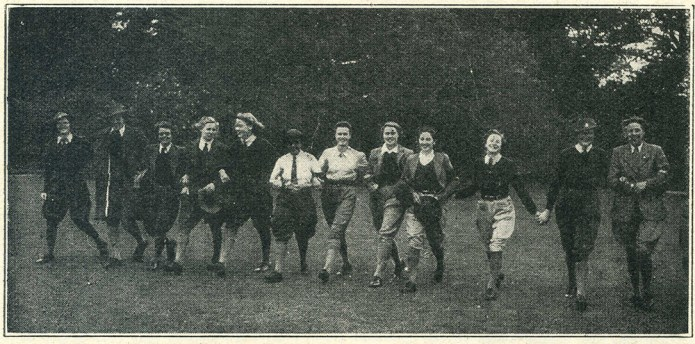 'At a party in Derbyshire' Photo from 'The Land Girl', December 1942.