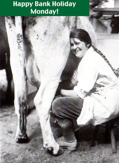 Milking and dairying - ideal work for a land girl (WW1) Source: IWM Q30681