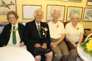 Evelyn Light, Doris Bradley, Gladys Marshall & Molly Paterson at the WLA Reunion at Romney Marsh Wartime Collection, Brenzett, Kent, 17 August 2014.