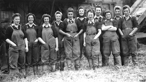 "WLA on Burton's Farm, Thorney From BBC article ""Mr Finnerty said agriculture faced a new crisis during the inter-war years, with prices for farm produce falling. Thousands of women joined the Women's Land Army during World War Two. What is less well known is that their farm work did not end in 1945 - over 100 land army women were still working in Cambridgeshire's farms in 1950."""
