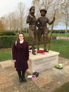 Cherish Watton at the unveiling of the Women's Land Army and Timber Corps Tribute. Source: Stuart Antrobus.