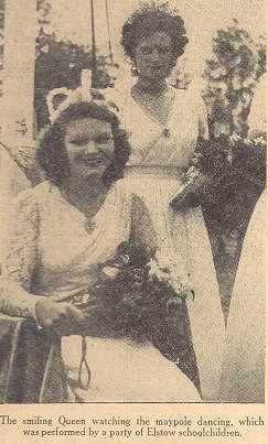 Myra Griffths crowned May Day Queen in 1945. Courtesy of Stuart Antrobus.