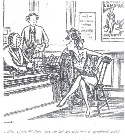 "By the cartoonist, Sillince, originally for Punch magazine, 18 June 1941. Source: ""Laughs on the Land"", a 1940s anthology of cartoons. Courtesy of Stuart Antrobus."