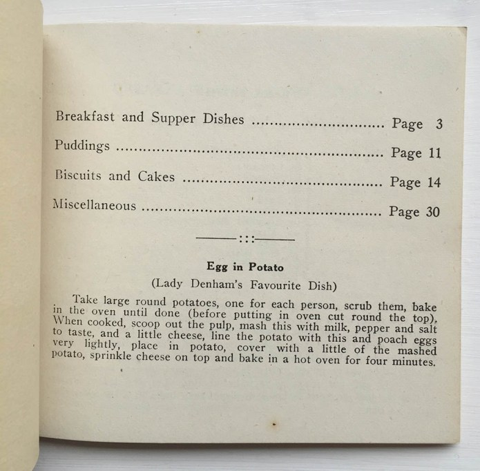 Women's Land Army Wales Receipe Book Inside
