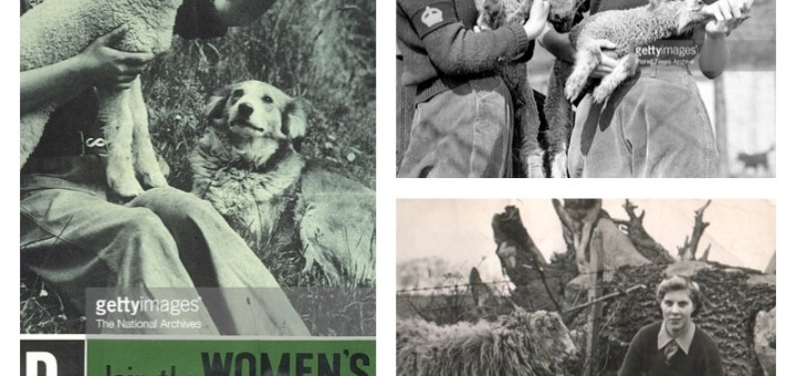 Lambing Women's Land Army