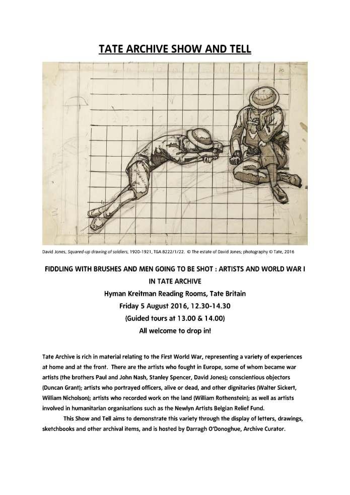 Tate Archive WW1 Flyer