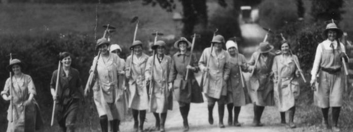 Land Girls at Great Bidlake Farm. Source: BBC