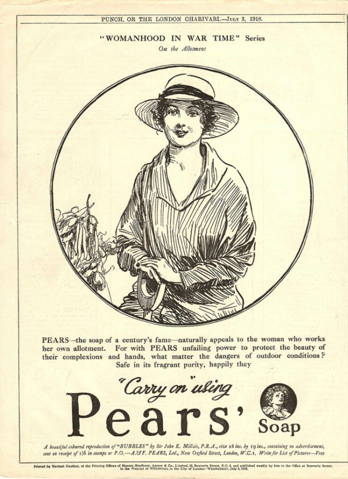 Womanhood in Wartime Pears Advertisment