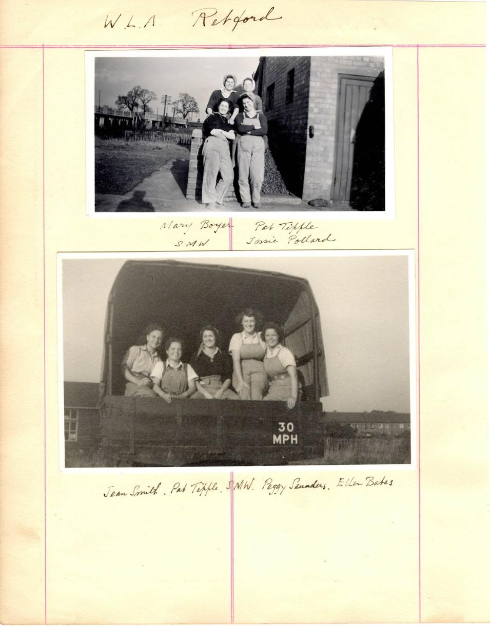 WLA Retford Album Page 1