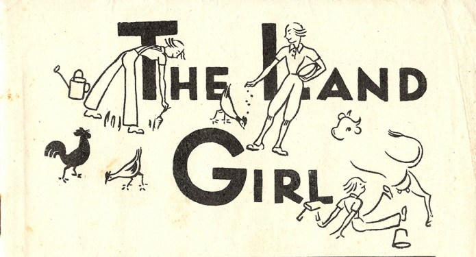 April 1944 edition of The Land Girl, drawn by E. Zierer (WLA number, 30971)