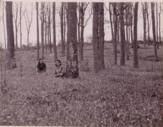 Land Girls of Battina House, working in the forests.