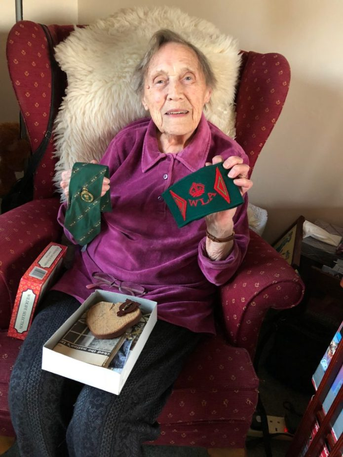 Joy Smith with items of her WTC uniform.