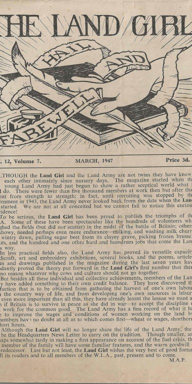 The Land Girl March 1947