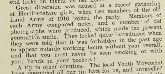 Hertfordshire News The Land Girl, October 1941, p.13