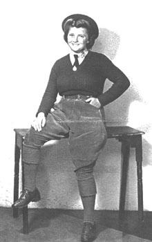 Iris in her WLA uniform