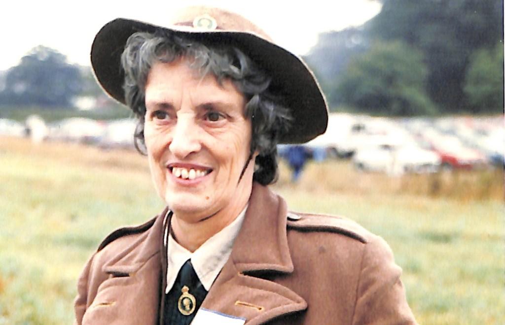 Mary Linda Haynes in her WLA uniform