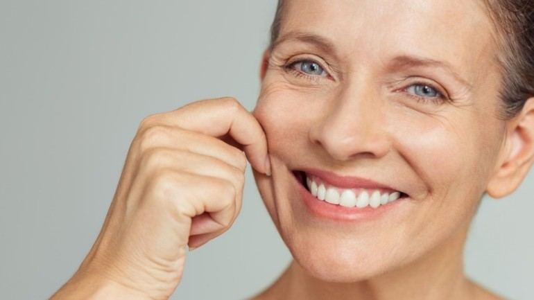 woman with some wrinkles in face