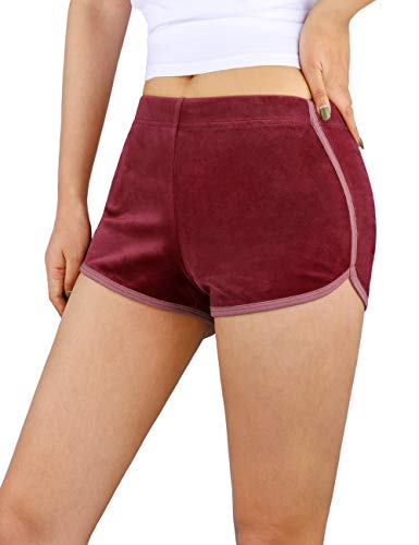 Sykooria Womens Casual Pajama Shorts Cotton Elastic Waist Yoga Running Workout Athletic Shorts Lounge Shorts with Pockets